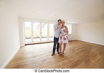 のまわり, 恋人, 見る, 詳細, 新しい 家, 特性