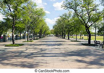 のまわり, 皇族, luang, -, 歩きなさい, バンコク, sanam, 3, 通り, 7月, :, 仲間