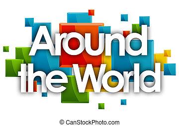のまわり, 長方形, 単語, 有色人種, 世界, 背景