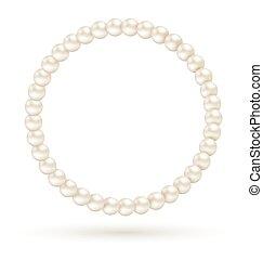 のように, フレーム, 隔離された, 真珠, 円, 白
