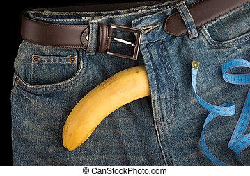 のように, 大きい, 人, ジーンズ, ペニス, センチメートル, バナナ