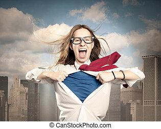 のように, 女, superhero
