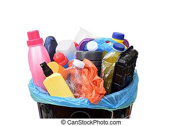 の上, プラスチック, リサイクル, 終わり