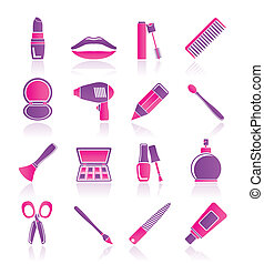 の上, 化粧品, 作りなさい, hairdressing