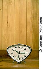 の上, 古い, 時計, 光景, 終わり, 警報