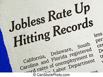 の上, 失業者, レート