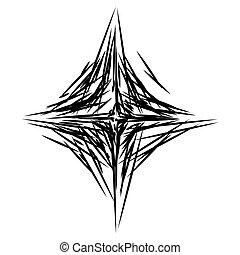 の上, 形成, 任意である, 抽象的, element., 白, lines., 芸術, 作られた, 黒, 不規則である