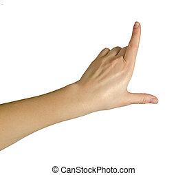 の上, 指すこと, 手