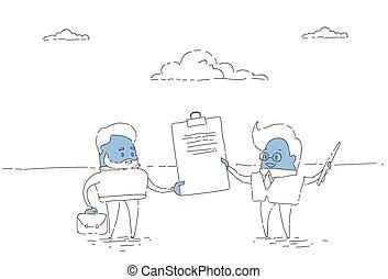 の上, 概念, 取引, ビジネス, 成功した, 署名の契約, 2, 合意, ビジネスマン, 把握, 人