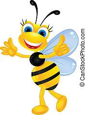の上, 漫画, 親指, 蜂