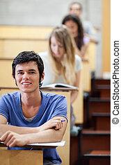 の間, 検査, 若い, 学生, 肖像画