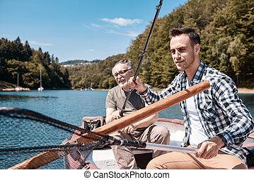 の間, 父, 湖釣, 息子