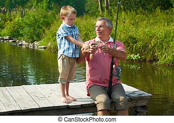 の間, 釣り