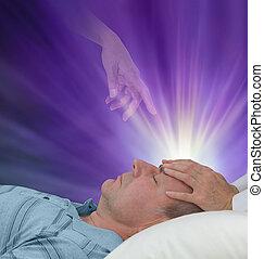の間, 霊歌, セッション, 助け, 治癒