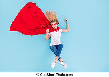 はい, 上, 長さ, 角度, を除けば, 世界, の上, 背景, 光景, 小さい, 位置, 狂気, ウエア, 子供, 隔離された, 高く, 青, フルである, 白, 写真, 昇給, 色, 喜ばせられた, 岬, 握りこぶし, 赤, マスク, 叫び, 上に, デニム, superwoman