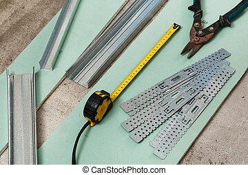 はさみ, 測定, 金属, テープ