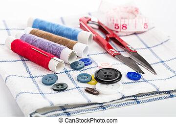はさみ, 裁縫, テープ, ヤーン