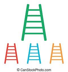 はしご, セット, 印。, colorfull
