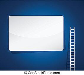 はしご, ブランク, デザイン, イラスト, 印