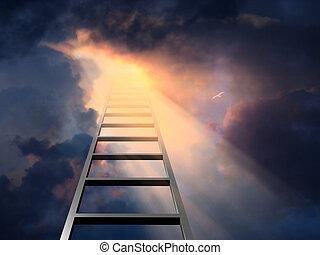 はしご, 劇的な 空