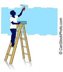 はしご, 画家