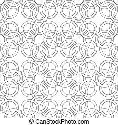 はたを織る, のように, パターン, -, seamless, chainmail, ベクトル