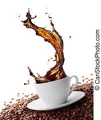 はねかけること, コーヒー