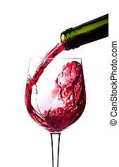 はねかけること, ワイン, アルコール, びん, 赤