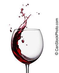 はねかけること, 赤ワイン