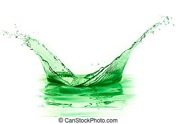 はね返し, 緑, 液体