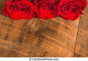 ばら, 明るい, 3, 赤いテーブル