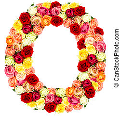 ばら, o, 花, アルファベット