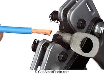 ひだが付くこと, 道具, 電気である, ケーブル