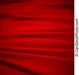 ひだのある布, 背景, 美しい, 赤, silk., イラスト, 織物