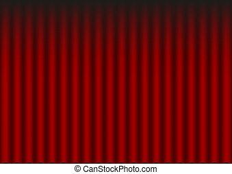 ひだのある布, 赤