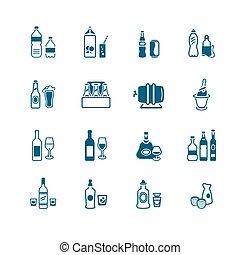 びん, アイコン, シリーズ, 飲みなさい, micro, |