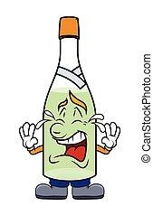びん, シャンペン, 漫画, 叫ぶこと