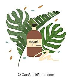 びん, 化粧品, skincare, 有機体である, 自然, bodycare, 証明される