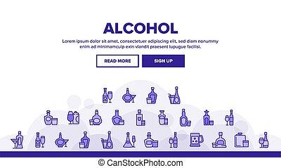 びん, 着陸, ベクトル, 飲みなさい, ヘッダー, アルコール