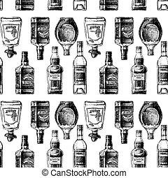 びん, alcohol., パターン