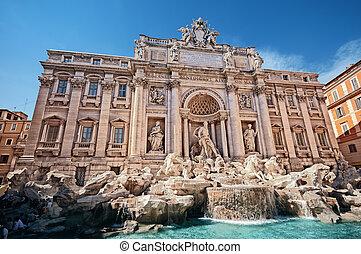 ほとんど, ∥ディ∥, rome., 1(人・つ), 有名, 噴水, ランドマーク, trevi), trevi, (fontana