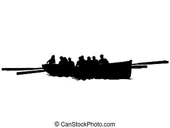 ほんの少し, 人々, ボート, 1(人・つ)