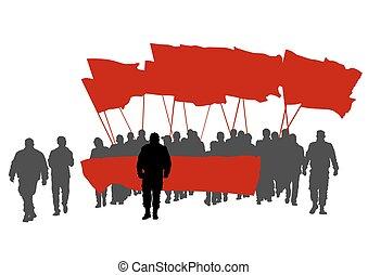 ほんの少し, 旗, 人々