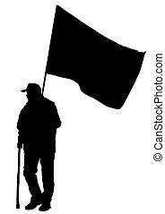 ほんの少し, 旗, 人