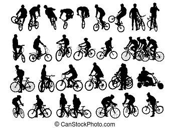 ほんの少し, 自転車, 人々