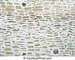ぼろを着ている, 壁, 石, 古い, 手ざわり