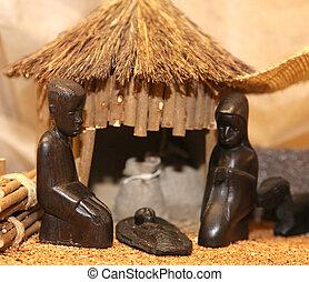 まぐさおけ, 神聖, 家族, アフリカ, 現場, nativity