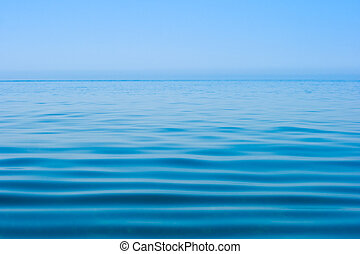 まだ落ち着いている, 海水, 表面