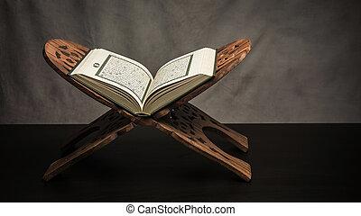 まだ, -, ), すべて, 神聖, イスラム教, 項目, 公衆, テーブル, 生活, (, コーラン, 本