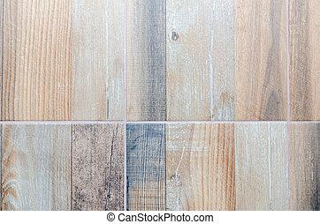 まねをする, タイル, 木製の 床